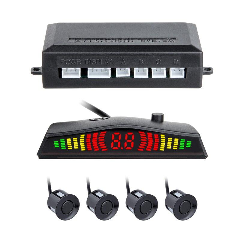 2018 display A LED Sensori di Parcheggio 4 Radar Dell'automobile Automobile Parkmaster de aparcamiento radar Auto-detector Allarme Parktronic