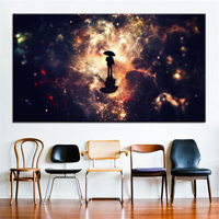 Space Large size Printing Oil Painting star rain Wall painting Decor Wall Art Picture For Living Room painting No Frame