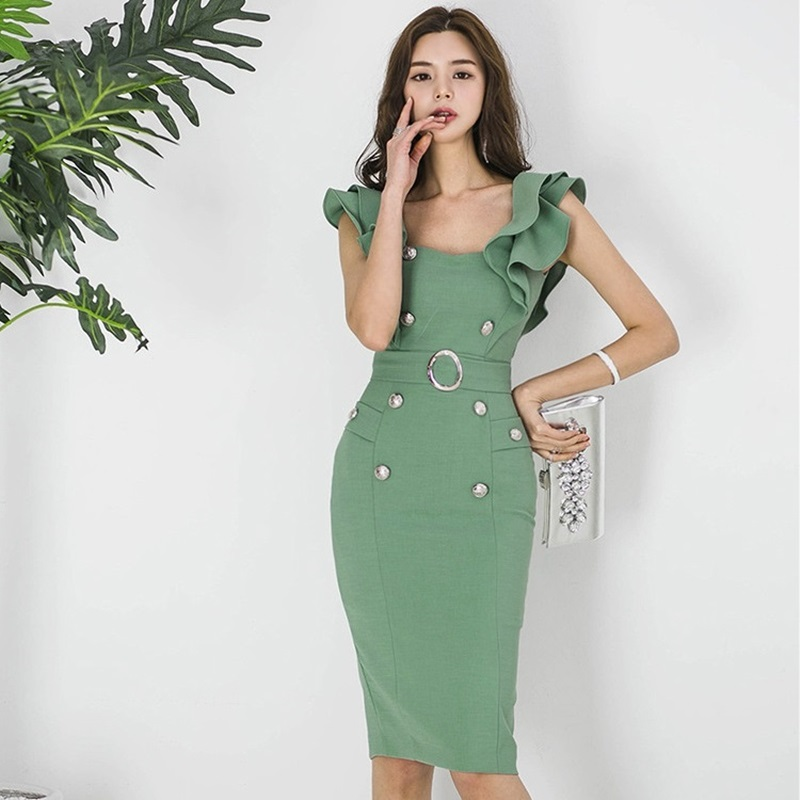 Pinafore dress women casual sundress business dress for women office south korea clothing female social dress