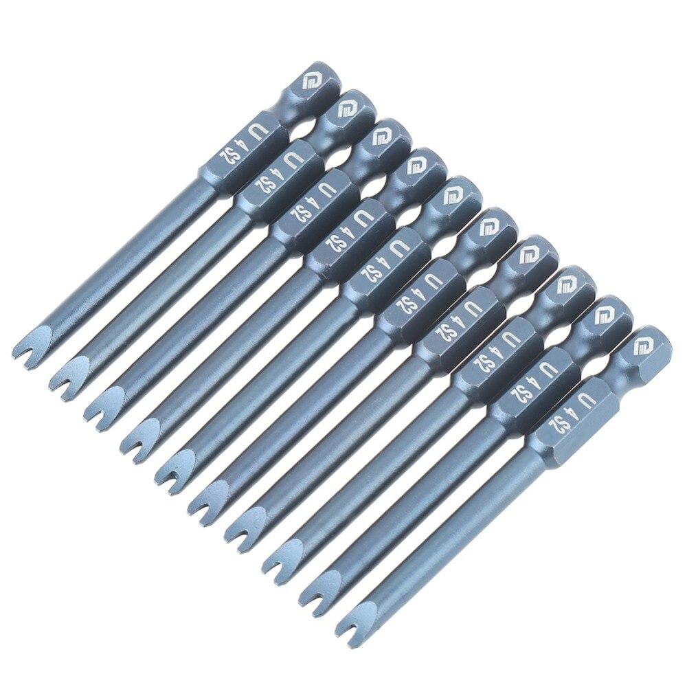 10pcs 1/4inch Hex Shank 65mm S2 Alloy Steel U Shaped Screwdriver Bits Set H6.3*65*u4 The Latest Fashion