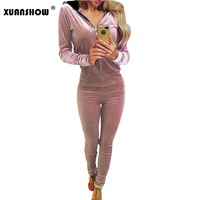 Tracksuit For Women 2017 New Fashion Fall Women S Pant Suit Sexy Hoodies Full Pant 2