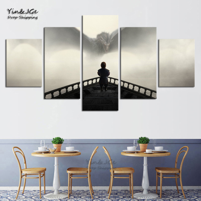 Home Decorative Modular Canvas Pictures HD Prints Posters 5 Pieces Game Of Thrones Painting For Living Room Wall Art Framework 3