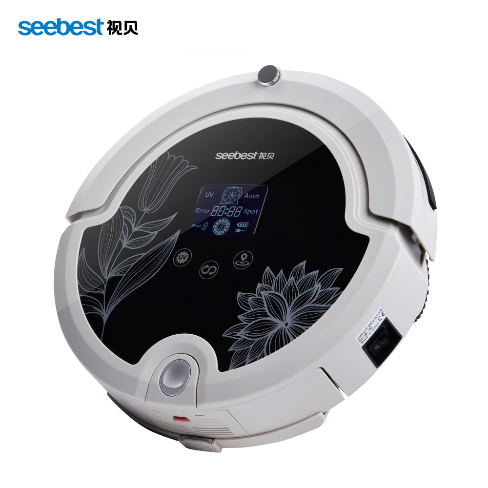 Robot Vacuum Cleaner With Remote Control Intelligent Anti Fall Vacuum Cleaner LCD Screen Seebest C571 Russia