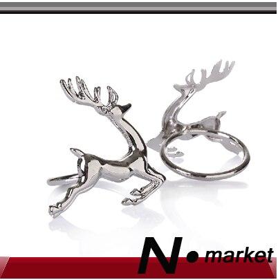Nové zdarma Shippng 12 kusů Silver Wapiti ubrousek prsten pro svatební stůl slitiny kovu dekorace ubrousky držáky
