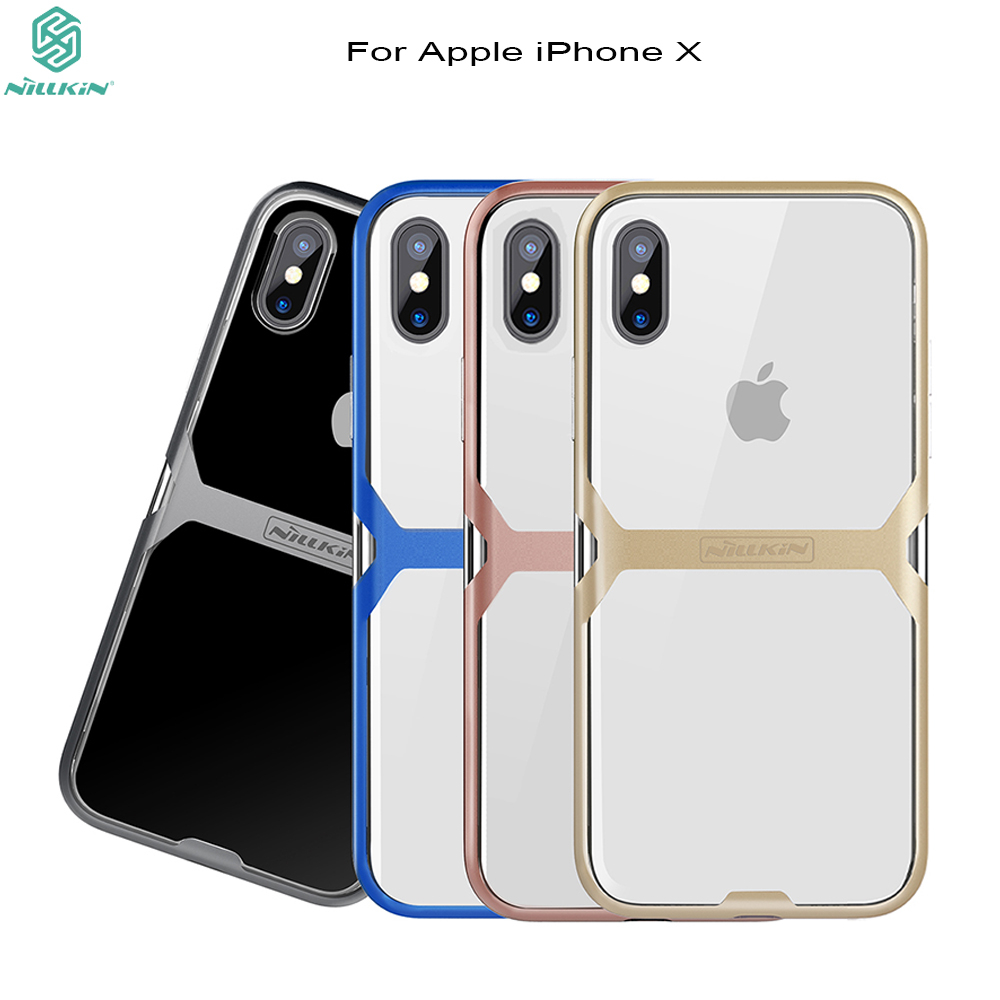 Cover for iphone x case Nillkin 2 in 1 Nature TPU combine PC bumper phone case for iPhoneX case