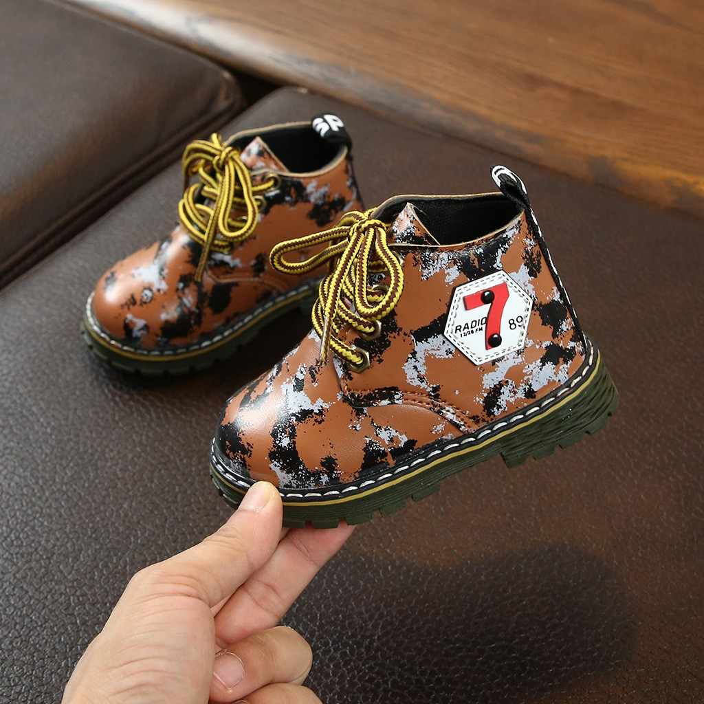 Hohe qualität Neugeborenen Baby Kinder Kinder Baby Mädchen Jungen Camouflage Print Sport Casual Schuhe Stiefel Kinder schuhe Anti-slip booties