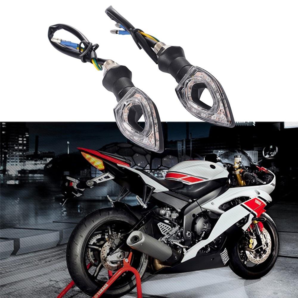 2 unids 6 w universal motorcycle12 led luces de giro indicadores luces moto luce