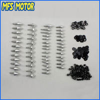 motorcycle parts Silver Spike Fairing Bolts For Yamaha YZF R6 YZF R6 YZFR6 1999 2000 2001 2002