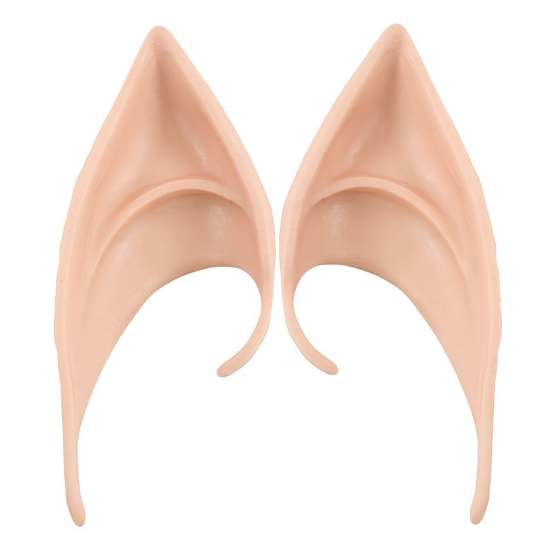HSIU God kvalitet NYHET Latex Fairy Pixie Elf Öron Cosplay Tillbehör LARP Latex Soft Pointed Prosthetic Tips Ear