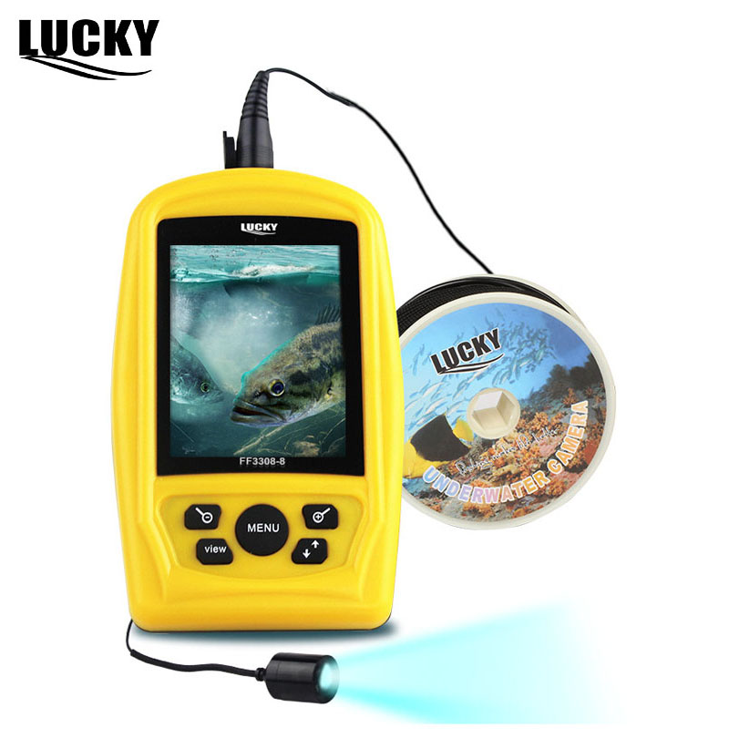 LUCKY Brand FF3308-8 Underwater Fishing Camera CMD Sensor 3.5 inch TFT RGB Waterproof Monitor 20M Cable Fish Finder CAM buy rgb monitor