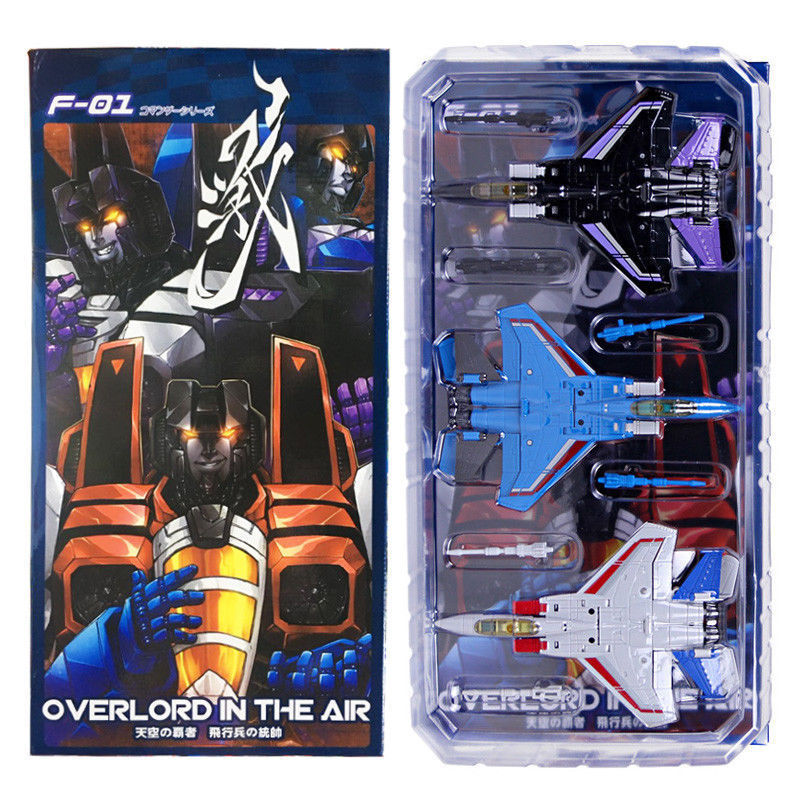 цены Mech Fans Toys MFT F-01 & F-02 Overlord in the Air DEFORMATION ACTION FIGURE TOY Anime Figure Collectible Model Toy
