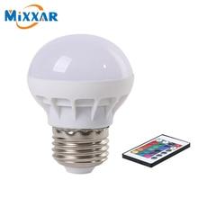 zk50 LED RGB Bulb Lamp AC85-265V E27 5W LED RGB Spot Blubs Stage Light Magic Holiday RGB lighting+IR Remote Control LED Bulb
