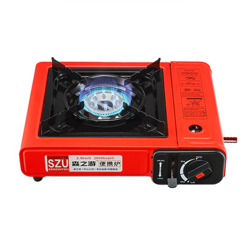 Dual use Portable Cassette Stove Windproof Wild Picnic Stove Gas Grill Dual use Camping Stove For