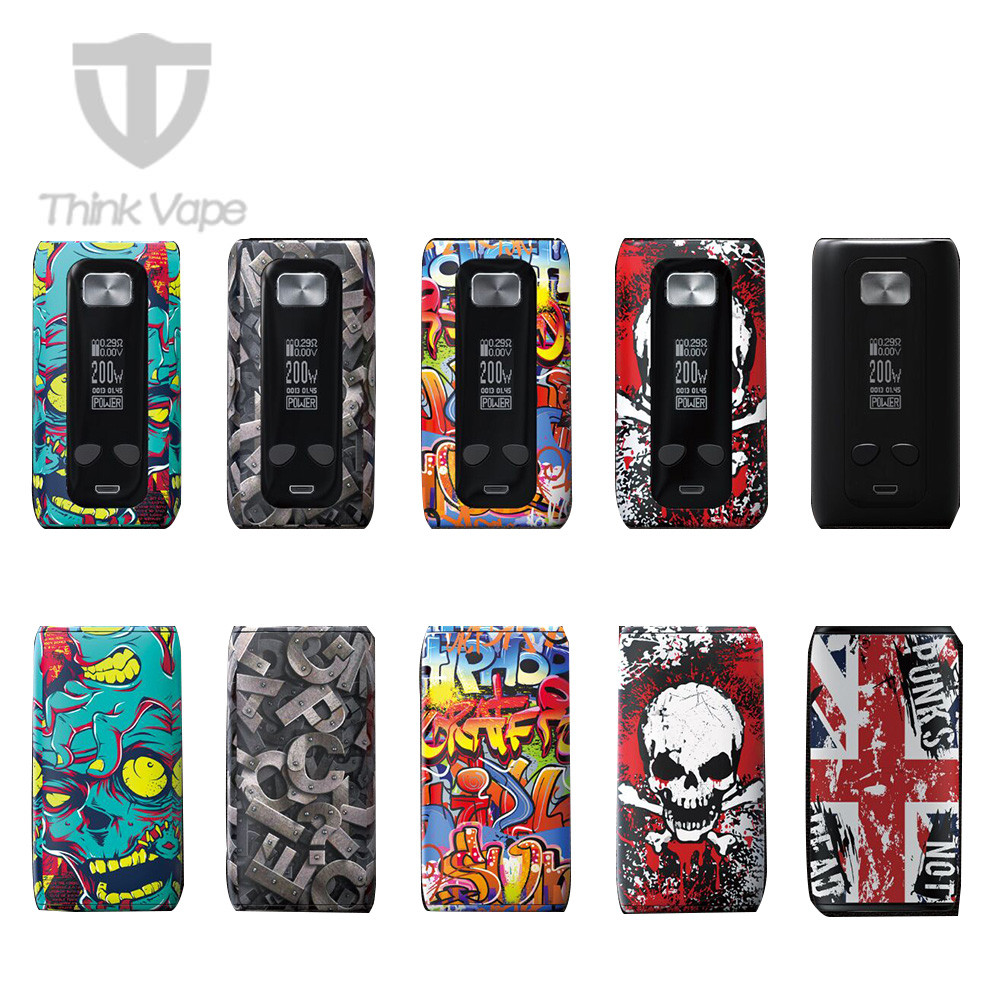 Original Think Vape Thor TC Box MOD with High Performance VW/ TC Modes No 18650 Battery Included Electronic Cigarette Vaping Mod