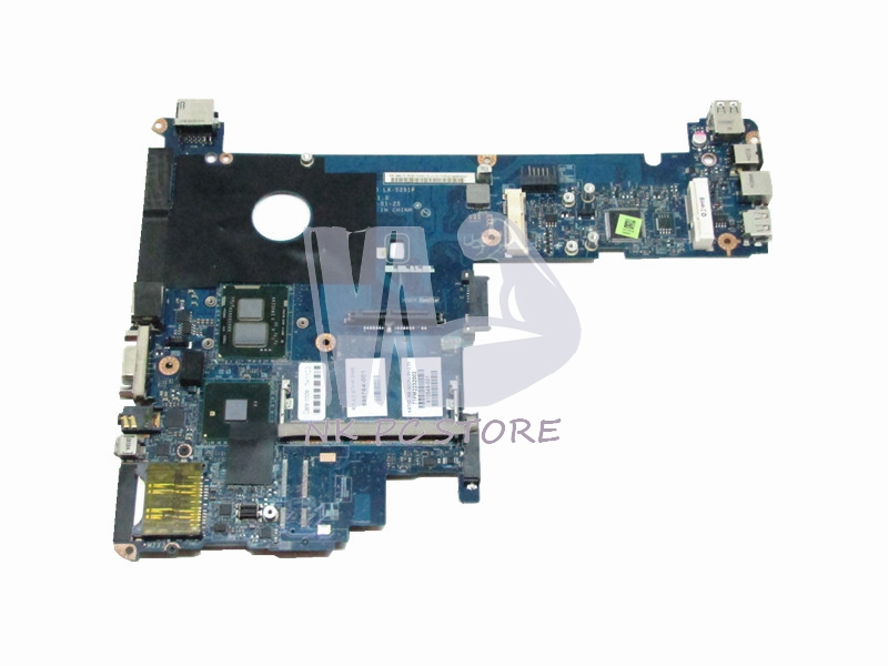 598764-001 LA-5251P Main Board For Hp Elitebook 2540P Laptop Motherboard i5-540M CPU GMA HD DDR3 nokotion jbl81 la 4031p 462439 001 main board for hp compaq c700 laptop motherboard 965gm ddr2 free cpu