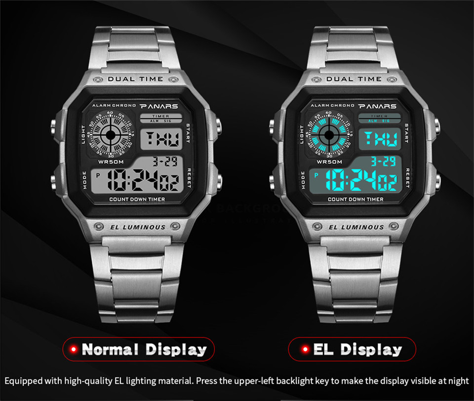 b24203831ff Digital Wrist Watch Men Electronic Watch Luxury Sport Watch LED Display Kol  Saati Zegarki Meskie Horloges. 50 m homens relógio ...