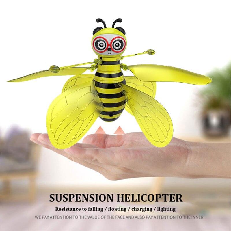 Пчела самолет инфракрасный самолет индукционный автомобиль Rc без камеры стабильный Gimbal Hover Милый жест зондирования игрушка интерактивная игрушка игра
