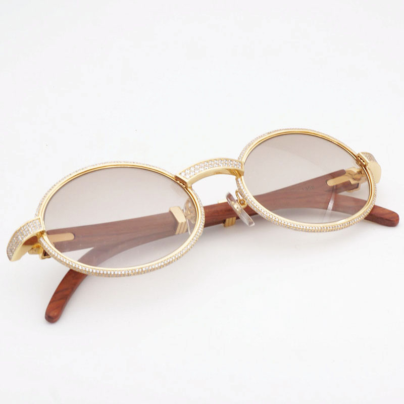 Vintage Gold Aviator Sunglass Glass Lens Bayonet Temples Diamond Gold