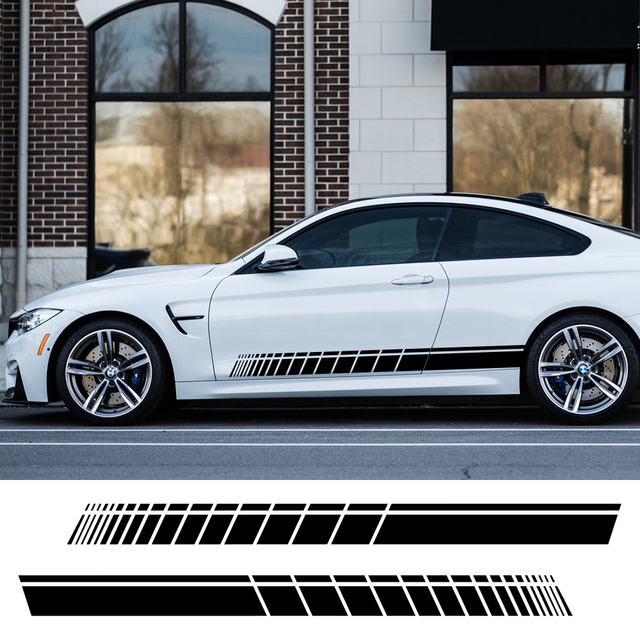 Adesivi laterali Auto per Audi BMW Ford Volkswagen Toyota Renault Peugeot Mercedes Honda Mini Auto vinile pellicola accessori Tuning Auto