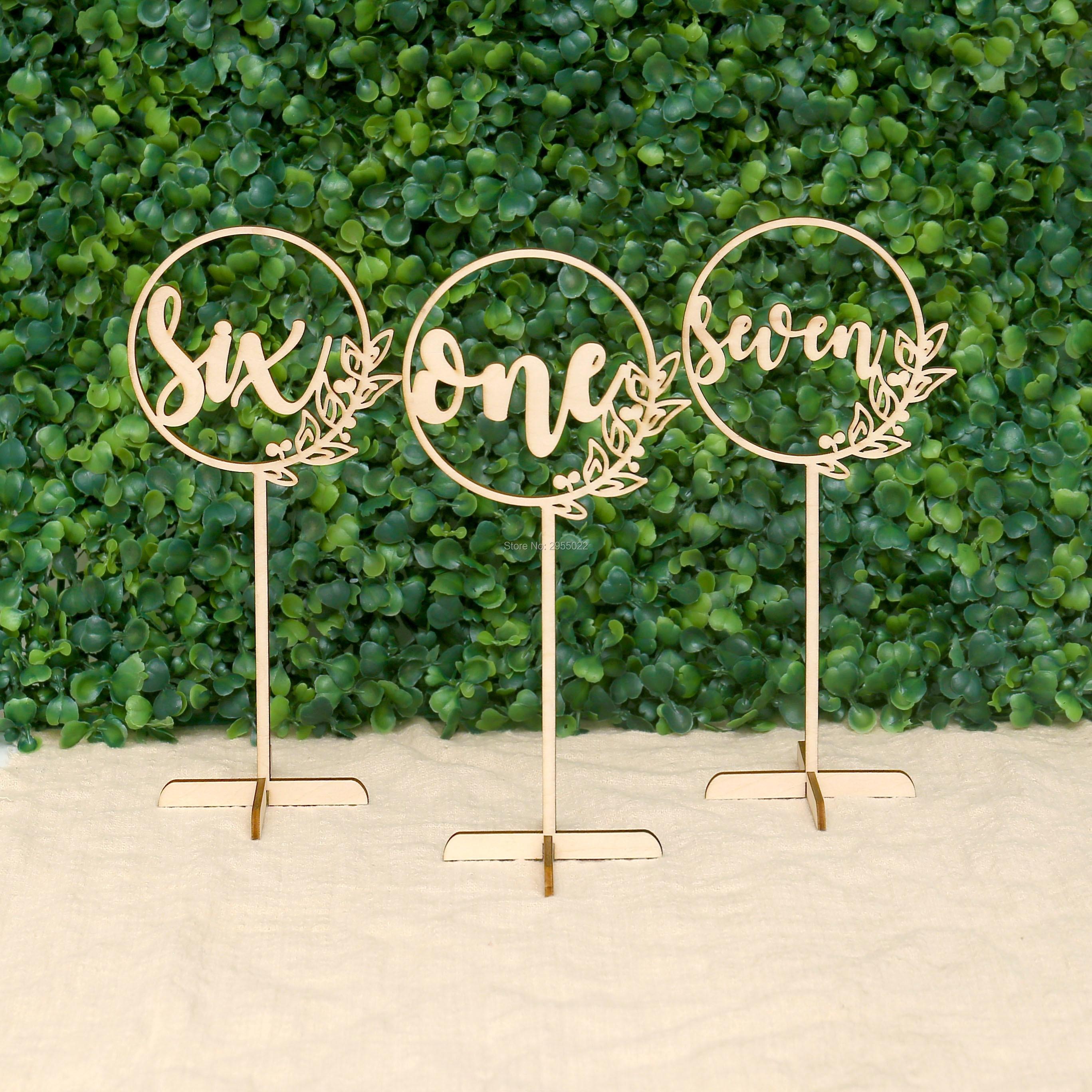 Mesa de madera elegante única rústica números de vid, centro de mesa de flores para boda, decoración de boda, PEANDIM candelabros centros de mesa para bodas mesa de centro candelabros partes decoración K9 candelabro de cristal de oro de vela
