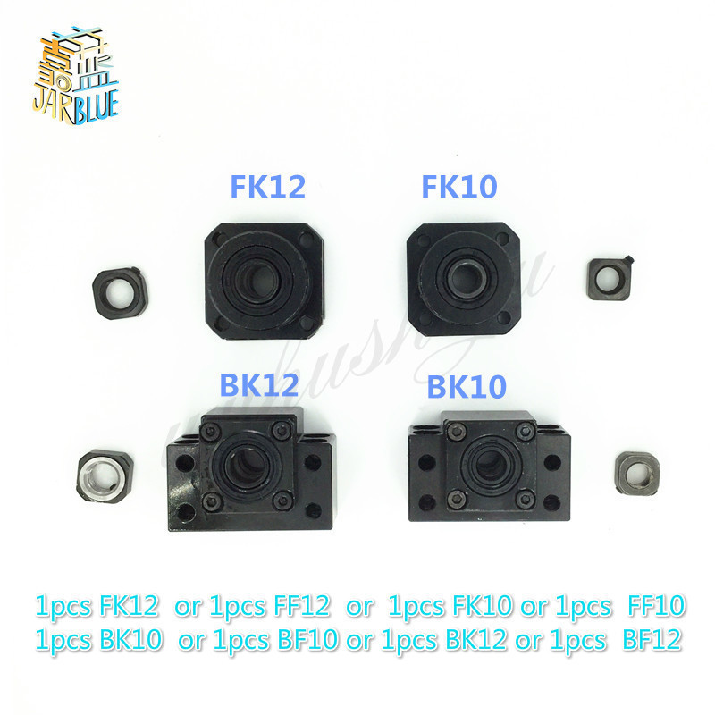 BK10 BF10 BK12 BF12 FK10 FF10 FK12 FF12 Fixed End Support Seat Bearing Id 8mm 10mm  12mm For Ballscrew Support CNC 1pcs