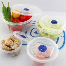 The circular sealing preservation box Sealed container 4pcs free shipping