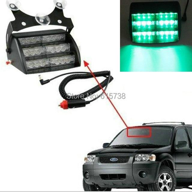 18 LED WHITE / AMBER/ RED /BLUE/ GREEN Strobe Flash Warning EMS Car Truck Light Flashing Firemen Fog Lights for vw polo