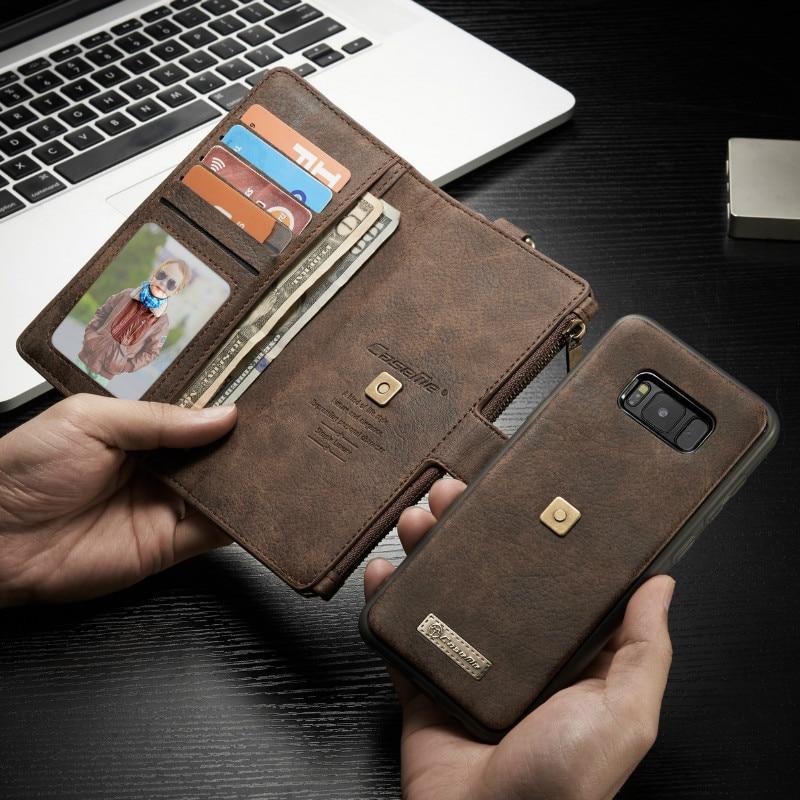 bilder für 2017 heißer Verkauf Promotion antiklopf Vintage Echtem Für Samsung Galaxy S8 Plus Luxus-schlag-abdeckung Für Brieftasche Mit Karte Slot