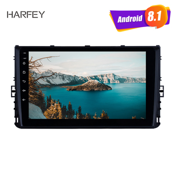 Harfey 2Din Android 8.1 GPS Car Stereo 9 Inch Multimedia Player For 2018 VW Volkswagen Universal Passat Golf Polo b5 b6 USB AUX image