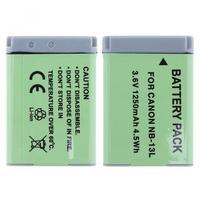 NB 13L 3.6V 4.5Wh 1250mAh Li ion Camera Battery for Canon PowerShot G5 X G5X G7 X Mark II G7X G9 X G9X SX720 HS Batteries