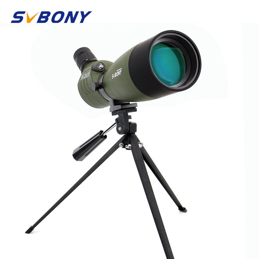 SVBONY Spotting Scope 20 60x60 25 75x70mm Zoom Telescope BAK4 Waterproof 45 Degree Angled Birdwatch w