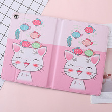 For iPad 2 3 4 Case Fashion Cartoon Cute cat PU Silicone Soft Back Tablet Cover For Apple iPad Pro 2 3 4 Flip smart stand Case 3d cartoon hello kitty soft silicone back cover case for apple ipad mini 1 2 3 7 9 tablet cases for kids gift