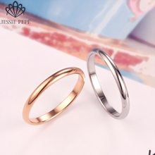 Jessiepepe Titanium Simple Wedding stainless steel Rings for Man or Woman Christmas Gift # TR0002(China)