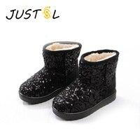 2016 New Children S Winter Snow Boots Boys Girls Sequins Keep Warm Safty Quality Children Boots