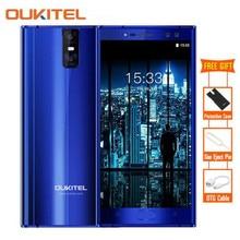 "K3 4 Cámaras Oukitel MTK6750T 16.0MP + 2.0MP 4G Teléfono Móvil Octa Core 4 GB 64 GB 5.5 ""Android 7.0 OTG Giroscopio Smartphone Touch ID"
