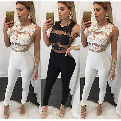 Hirigin Women Ladies Clubwear Playsuit Bodycon Party Sleeveless O-Neck Sexy Jumpsuit Romper Trousers 5