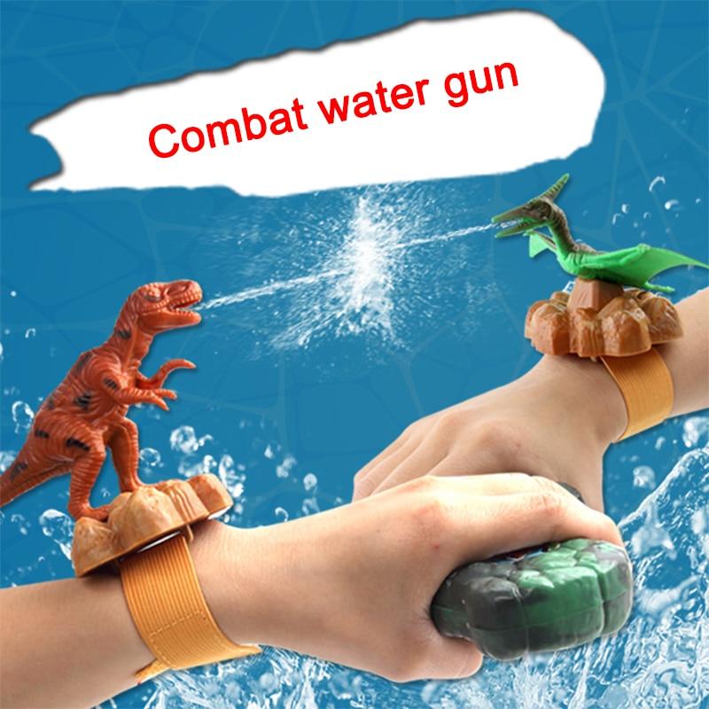 Mini Wrist Water Gun Plastic Swimming Pool Beach Outdoor Shooter Toy Sprinkling Dinosaur Animals Birthday Gift For Boys Children