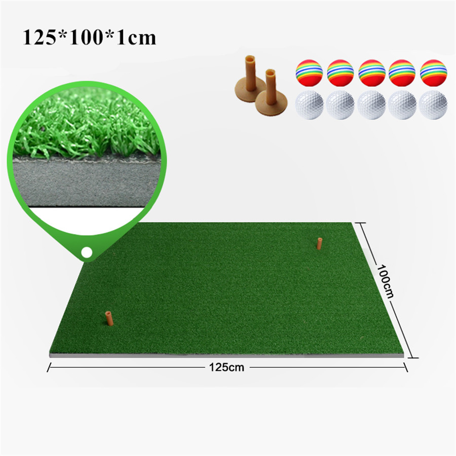 100x125cm Plus Size Backyard Golf Mat Different Sizes Indoor Residential Practice Training Golf Driving Mat Golf Hitting Mats