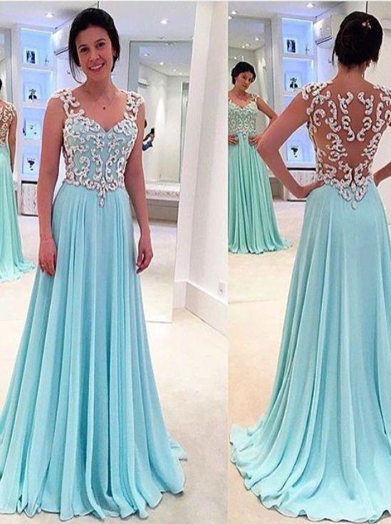 53b8d57a9f 2016 Sexy Prom Dress Long Vestidos de Baile Beaded Party Dress Aline V neck  Sexy Evening Gown Vestidos de Formatura