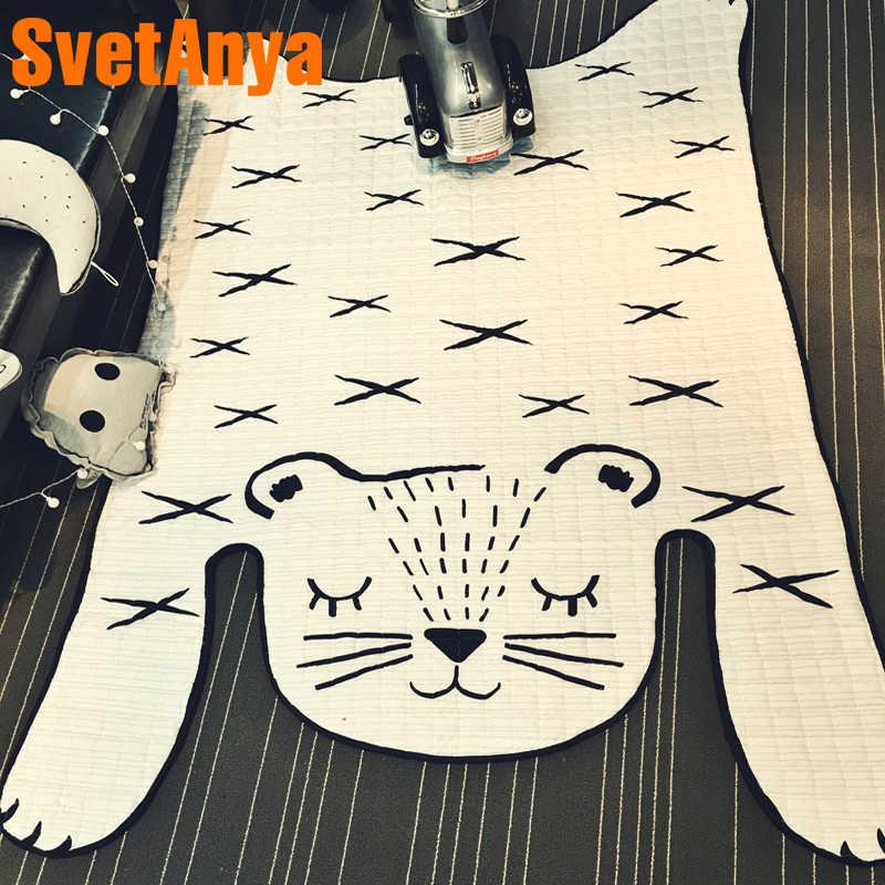 Svetanya 白虎の形のベビークロール敷物 130 × 185 センチメートルリビングルーム