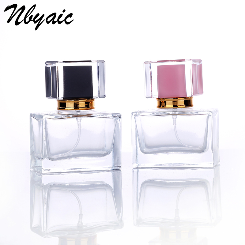 Nbyaic High-end 1pcs 30ml Mini Glass Spray Perfume Bottle Atomizer Spray Can Travel Portable Cosmetics Can Fill Empty Bottles