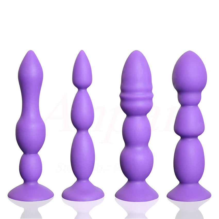 Strong Sucker Anal Beads Anal Plug Vaginal Butt Plugs Male -6302