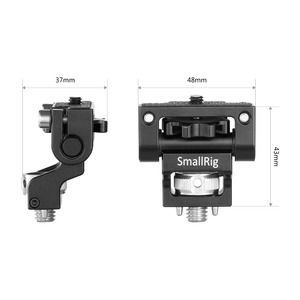 Image 3 - Smallrig デュアルカメラモニターホルダー evf サポートマウントスイベルモニターマウント arri と位置決めピン 2174