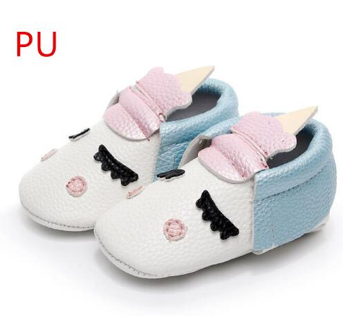 Hot Sell Handmade Blush Angle Unicorn Designer Newborn Baby Boys Girls Shoes Pu Leather Toddler Moccasins Soft Bottom Shoes