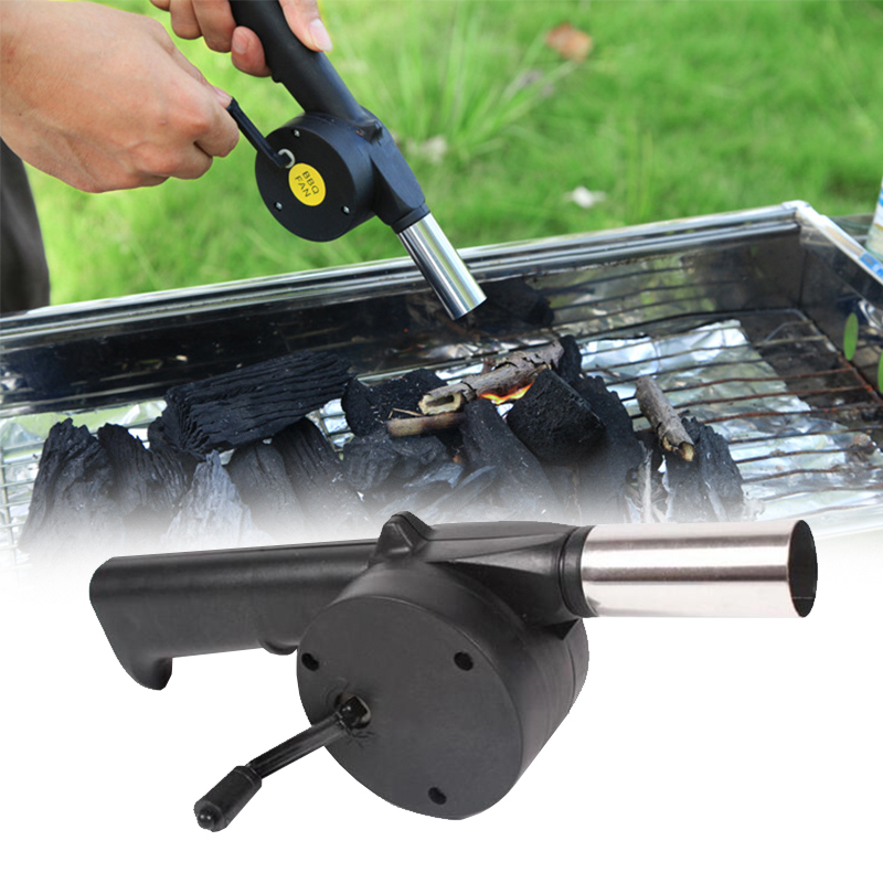 Barbecue Utensils Hair Dryer Manual Blower Barbecue Essential Outdoor Camping Picnic Tool Bbq Blower