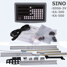 Free shipping complete set SINO 3 axis Dro digital readout with 3 pcs KA-300 linear glass scale