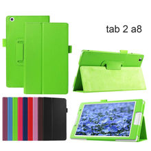 For Lenovo Tab2 A8 PU Leather Stand Protective Case Cover for Lenovo Tab 2 A8-50 A8-50F A8-50LC 8'' Tab 3 8 TB3-850M/850F Tablet(China)