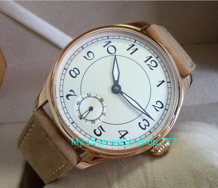 цены 44mm PARNIS white dial Asian 6498/3621 Mechanical Hand Wind movement men's watch Mechanical watches RNM9