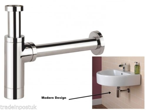 Luxury Chrome Brass Round Bottle Trap Tap Waste Bathroom