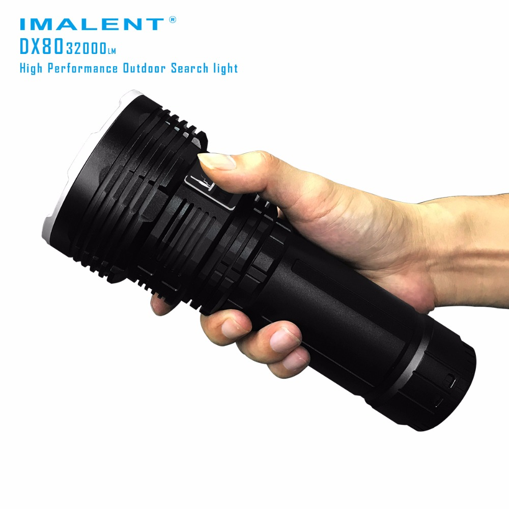Super Torch Search light IMALENT DX80 8 * CREE XHP70 MAX. 32000 lumen beam distance 806 meter LED Flashlight for Hunting плеер ibasso dx80